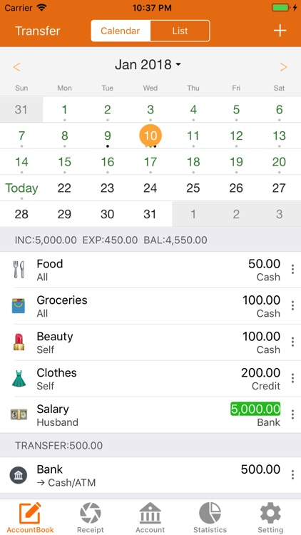 Spending Tracker :KeepAccounts