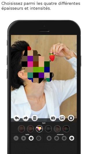 Flou Et Mosaique Dans L App Store