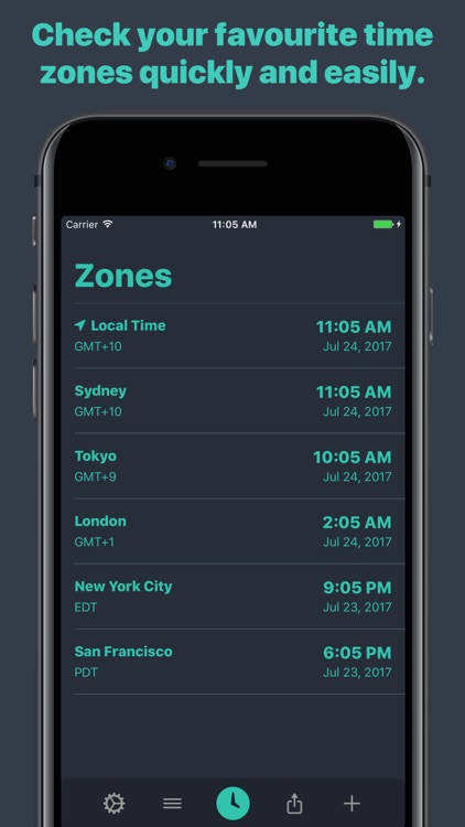 Zones - Time Zone Conversion