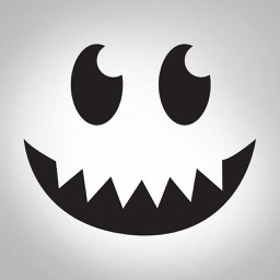 Halloween face simple emoji