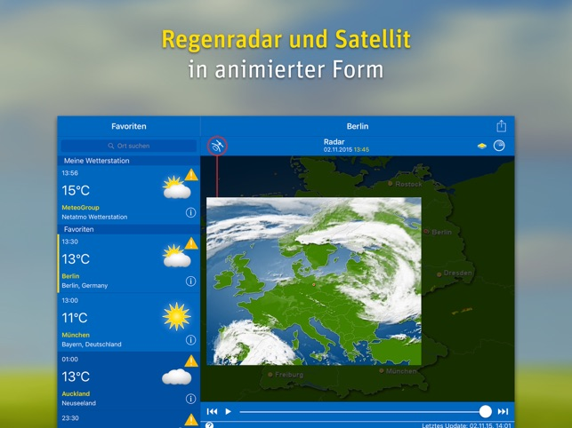 ‎WeatherPro for iPad Screenshot