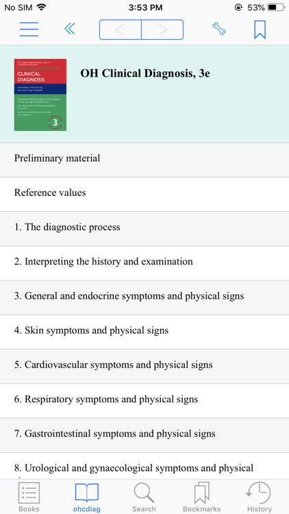 OH of Clinical Diagnosis, 3 ED
