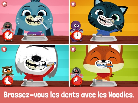 WoodieHoo Se brosser les dents