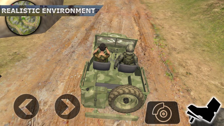 Army War Truck Driving