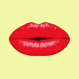 Kissing Smoochy Lips Stickers