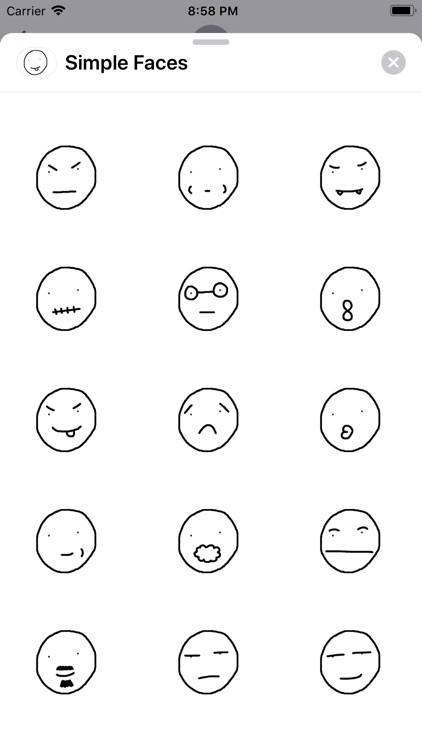 Simple Faces Sticker Pack screenshot-3
