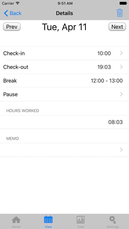 TimeSheet - IS - screenshot-3
