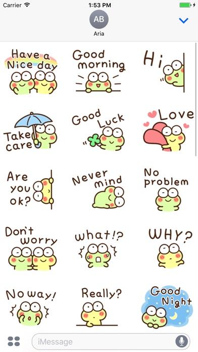 Very Cute Frog Emoji Sticker screenshot 4