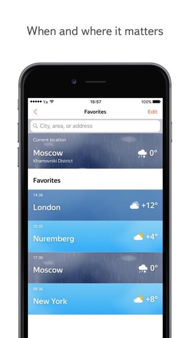 Yandex Weather online forecast by Yandex LLC (iOS, United