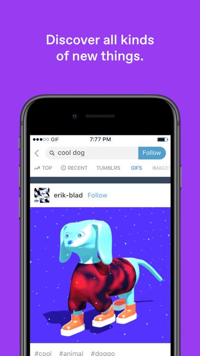 Screenshot 1 for Tumblr's iPhone app'