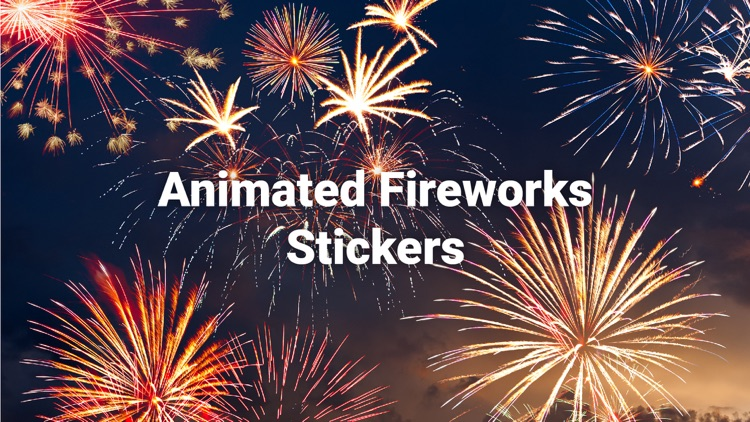 Animated Fireworks Party Text