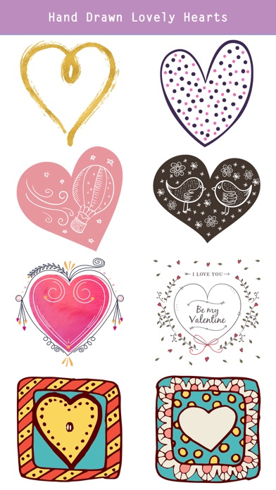 Hand Drawn Send Love Stickers screenshot 4
