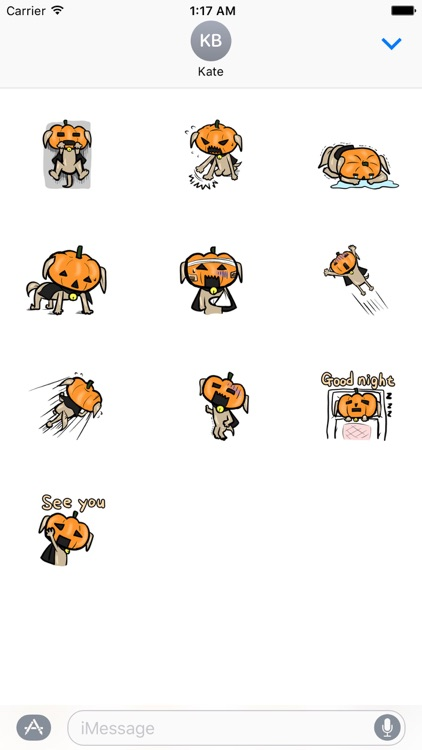 Funny Pumpkin Dog Sticker