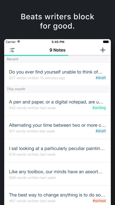 Prompts for Writing app image