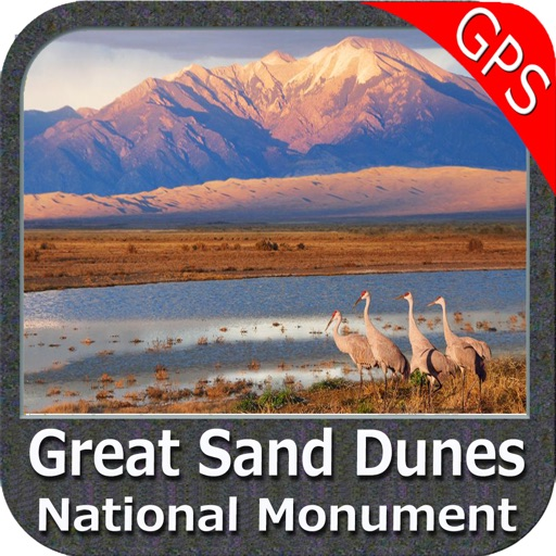 Great Sand Dunes National Monument GPS Map