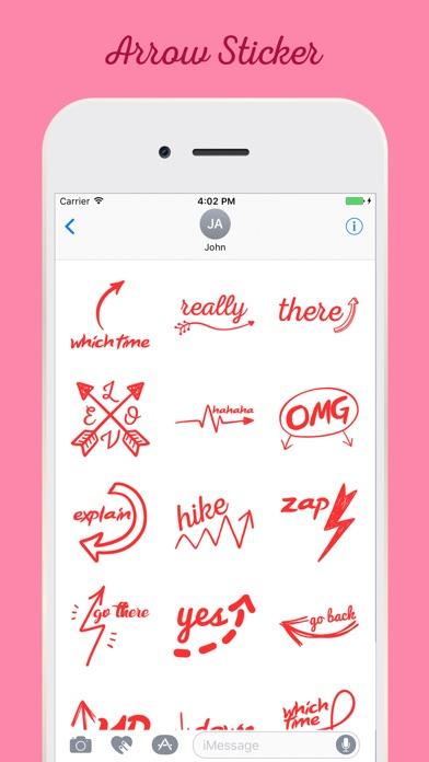 Screenshot of Arrow Stickers For iMessage App