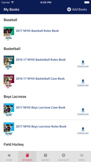 Nfhs rules on the app store nfhs rules on the app store fandeluxe Choice Image