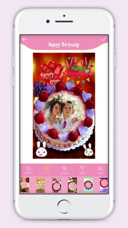 Happy Birthday Cake Frame