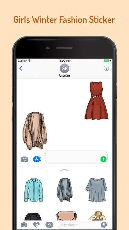 Girls Winter Fashion EMojis