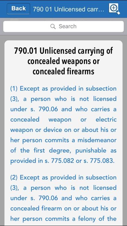 Criminal Code of Florida 2018 screenshot-3