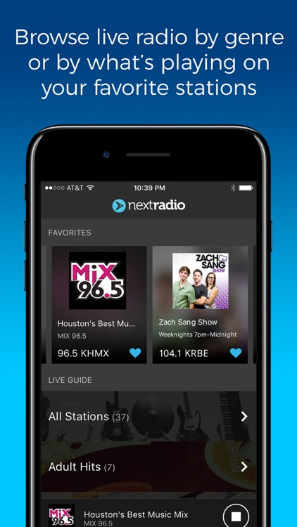NextRadio - Live FM Radio screenshot-0
