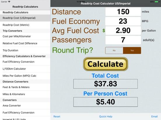 Roadtrip Gas Cost Calculator Price Drops