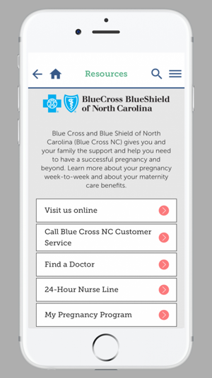 My Pregnancy Blue Cross NC on the App Store