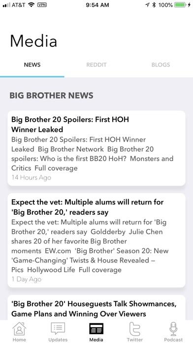 Pocket Big Brother iPhone