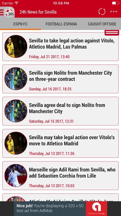 24h News for Sevilla FC
