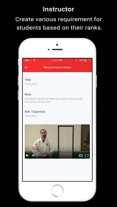 Screenshot of Black Belt Assistant App