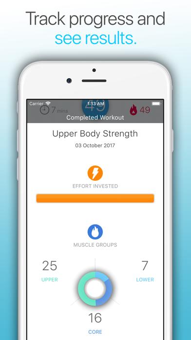 Wonder 7 Minute Workout App Screenshots