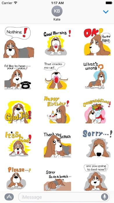 Animated Cute Basset Hound Dog screenshot one