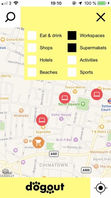 Dogout Dog Friendly Map Screenshots
