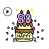 5.Animated Birthday Sticker Ver2