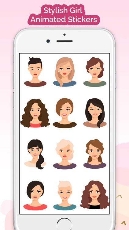 Animated Stylish Girl Stickers