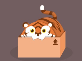Use those tiger stickers while chatting with your friends and family