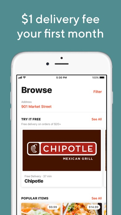 Screenshot for DoorDash - Order Food Delivery in United States App Store