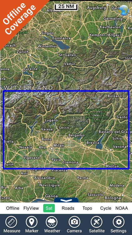 Italy Lakes charts - GPS fishing maps Navigator screenshot-4