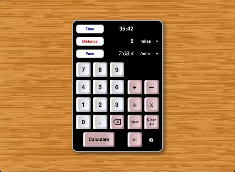 Athlete's Calculator for iPad