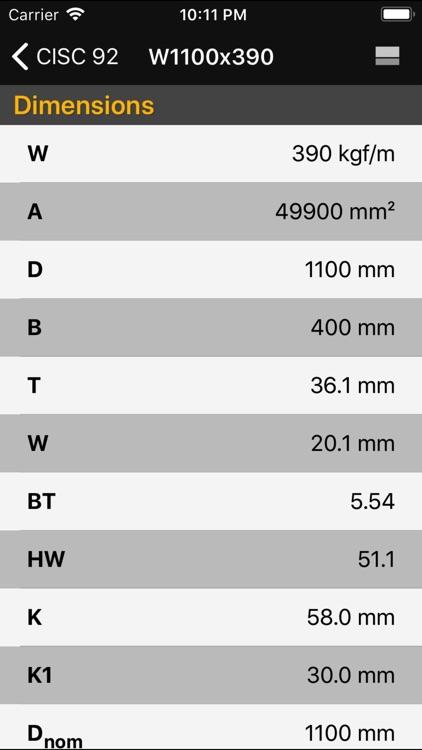 Steel Profiles CISC