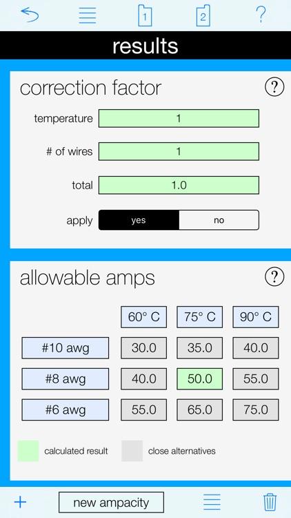 Ampacity Calculator Pro screenshot-3