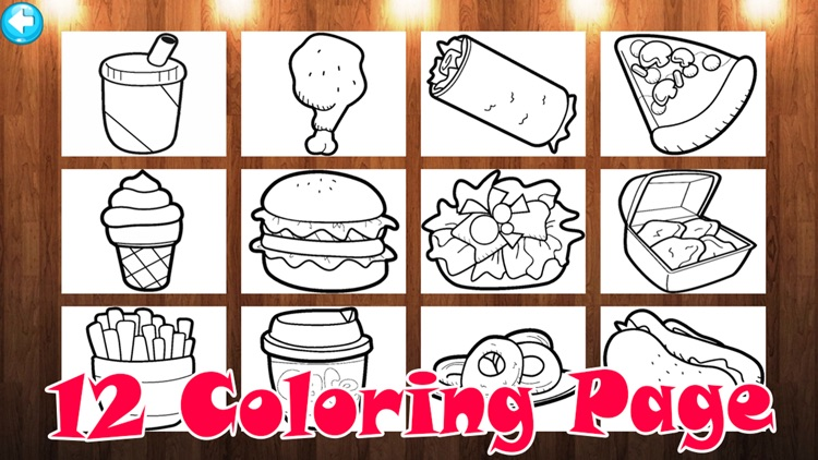 My Food Draw or Paint Learning