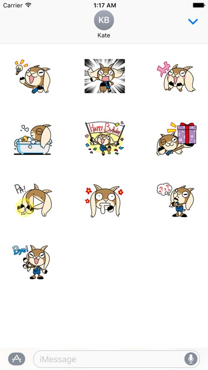 Cute Goat - GoatMoji Sticker