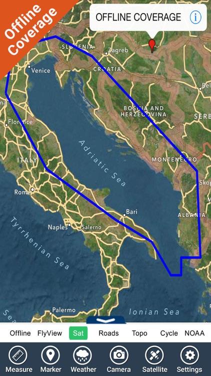 Adriatic sea HD Nautical Chart screenshot-4