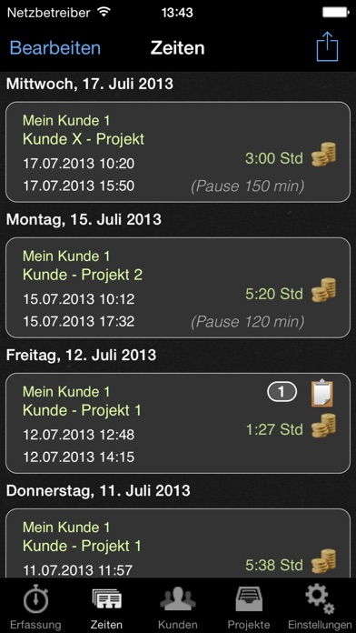Screenshot for Stempeluhr in Germany App Store