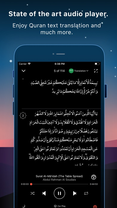 Screenshot for Quran Pro Muslim القرآن الكريم in United Arab Emirates App Store