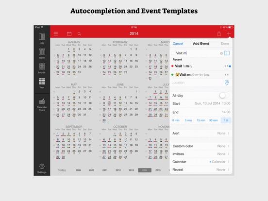 WeekCal for iPad Screenshots