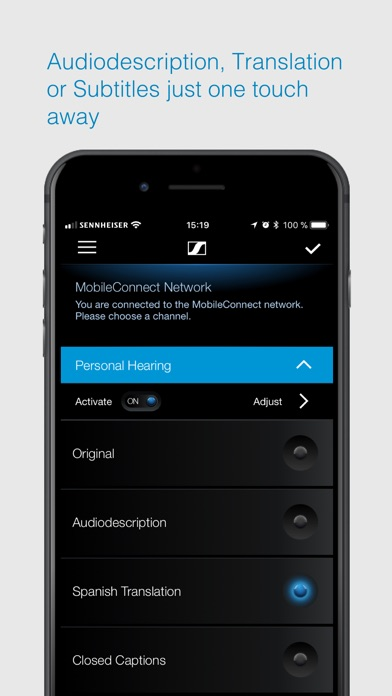 Sennheiser MobileConnect screenshot two