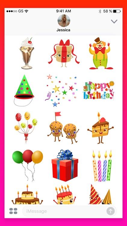 Happy Birthday Wish Stickers