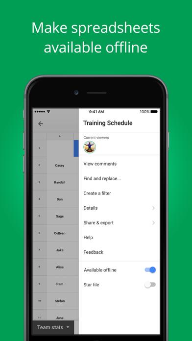 download Hojas de cálculo de Google apps 2